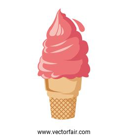 soft serve ice cream icon, colorful design