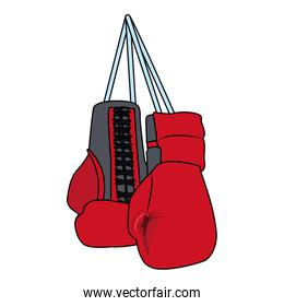 boxing gloves hanging icon