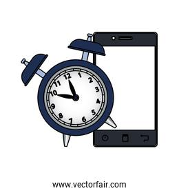alarm clock with smartphone device