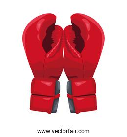 boxing gloves icon, colorful design