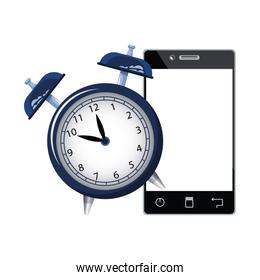 alarm clock with smartphone device, colorful design