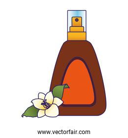 beautiful flower and sun bronzer spray bottle ico, colorful design