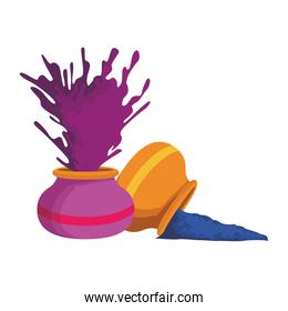 bowl with explosion of holi powder, colorful design