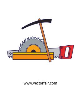 saw and repair tools icon