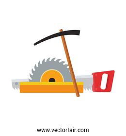 saw and repair tools icon, colorful design