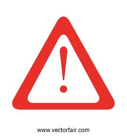 triangle warning sign isolated icon
