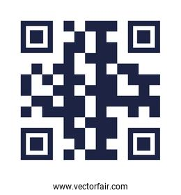 Isolated qr code vector design