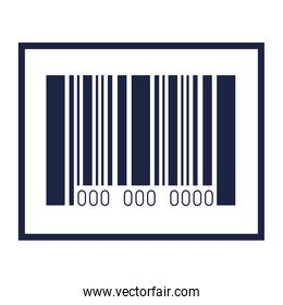 Isolated bar code vector design