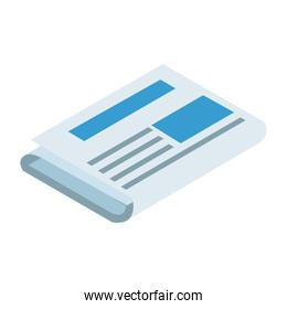newspaper icon, colorful and flat design