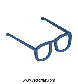 glasses icon over white background, colorful and flat design