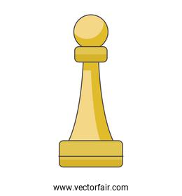 pawn chess piece  colorful design
