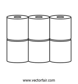 set toilet paper isolated icons