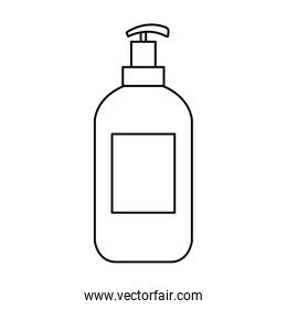 antibacterial soap bottle isolated icon
