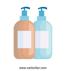 antibacterial soap bottles isolated icon