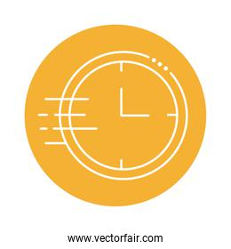 clock wall time block line style icon
