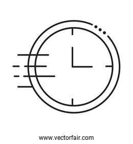clock wall time line style icon