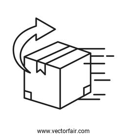 box package with arrow line style icon