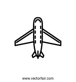 commercial or private plane transport linear design