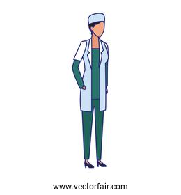 medical doctor woman standing