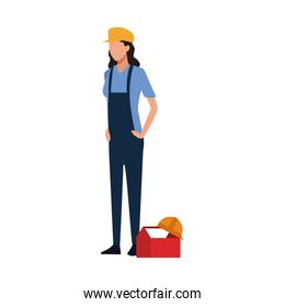 construction builder woman standing