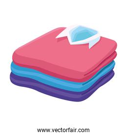 men shirts stack icon, colorful design