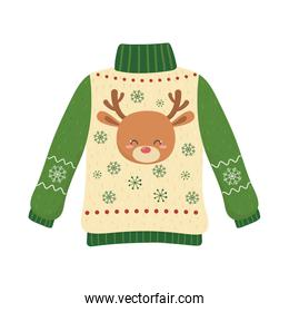 christmas ugly sweater party decorative deer head snowflakes