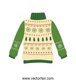 christmas ugly sweater party decorative snowflakes trees