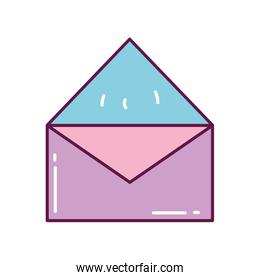 open envelope message courier icon