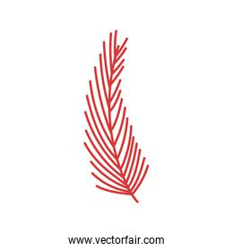 red branch foliage natural decoration icon