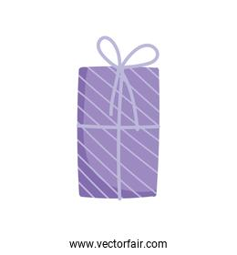wrapped gift box decoration party icon