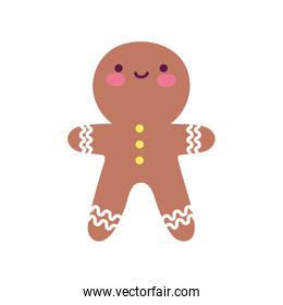 merry christmas celebration gingerbread man biscuit decoration
