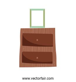 wooden table photo frame decoration icon
