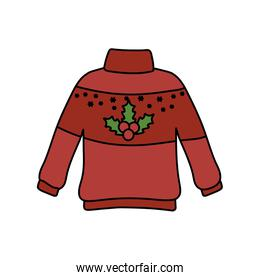 christmas red ugly sweater party decorative berries
