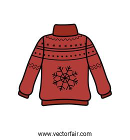christmas red ugly sweater party decorative snowflake