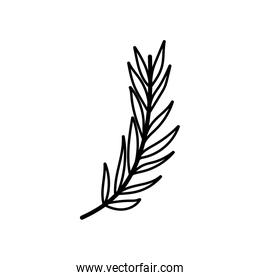 branch leaves foliage nature icon thick line