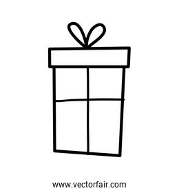 wrapped gift box decoration party icon thick line