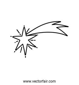 shooting star bright ornament icon thick line