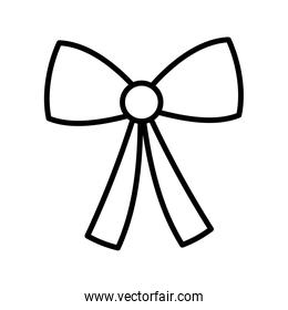 bow decoration ribbon icon thick line