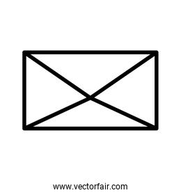 envelope mail courier communication icon thick line