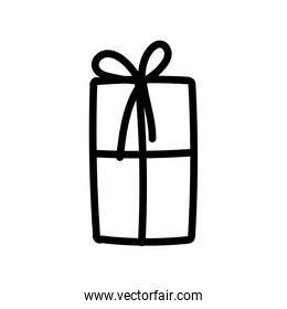 wrapped gift box decoration party icon thick line thick line