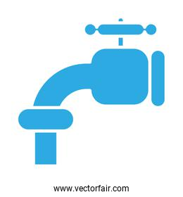 water tap line style icon