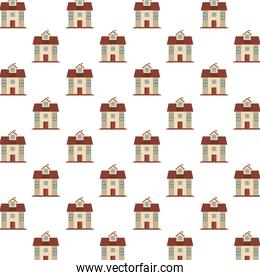 houses fronts facades pattern background
