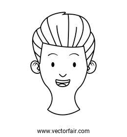 head young man avatar character
