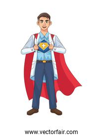 super doctor open the shirt and cloak vs covid19