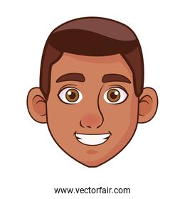 young man afro head avatar character