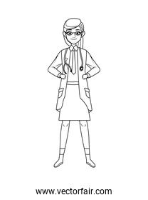 female doctor avatar character icon