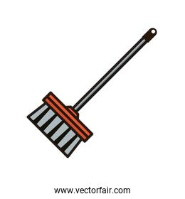 broom tool cleaning flat style