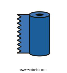 absorbent towels roll flat style icon