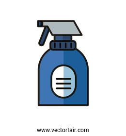 disinfectant spray bottle product flat style