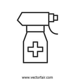 spray bottle medical product line style